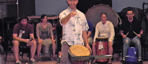 "Drum Circle Facilitation Clinic at UK's ""Orff Schulwerk Training"" Camp"